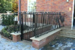 Matching gate and walltop rail with built in hand rail