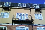 Matching single and double balcony rail