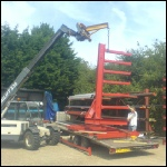 Teleporter lifting racking using jib mobile